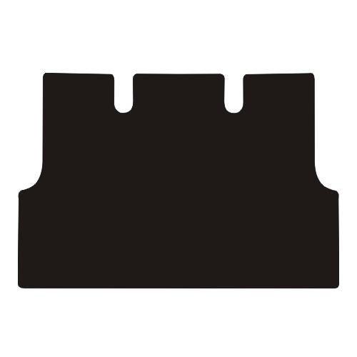 J.R. Tailor–Juego de alfombrillas para maletero, estándar negro con azul borde de rayas