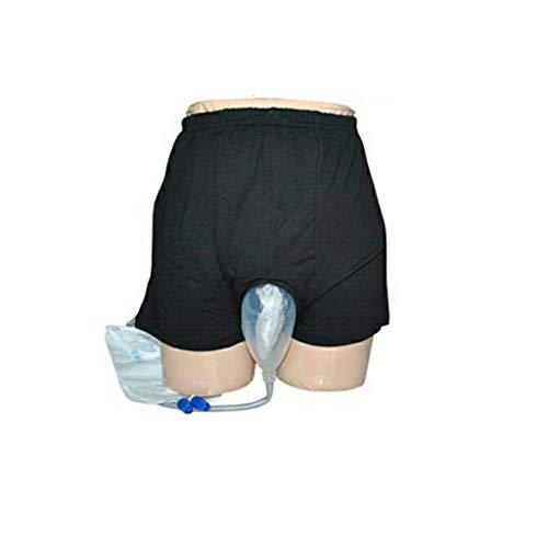 JHKJ Urin-Drainage-Beutel Für Erwachsene Urin-Sammler Portable Wearable Harninkontinenz-Unterhosen Wiederverwendbare Unterhosen-Komfort Breathable Urinkollektor,M -