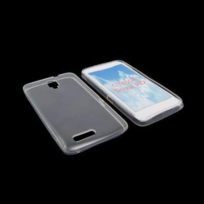 CUSTODIA GEL TPU SILICONE per ALCATEL ONE TOUCH SCRIBE HD, 8008 COLORE BIANCO
