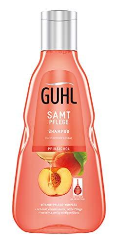Pfirsich-schaum (Guhl Samt Pflege Shampoo - mit Pfirsich-Öl - für normales Haar - für ein samtig gesundes Haargefühl, 250 ml)
