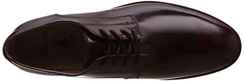 Clarks Gatley Walk, Chaussures de ville homme Noir (Burgundy Leather)
