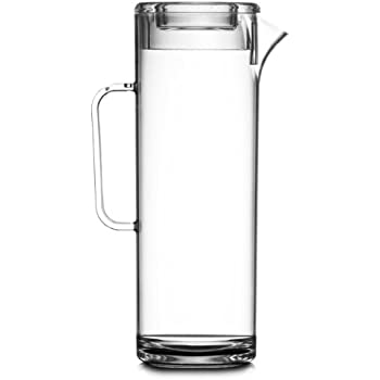 Elite 2.2L 4 Pint Tall Jug with Lid Transparent Plastic