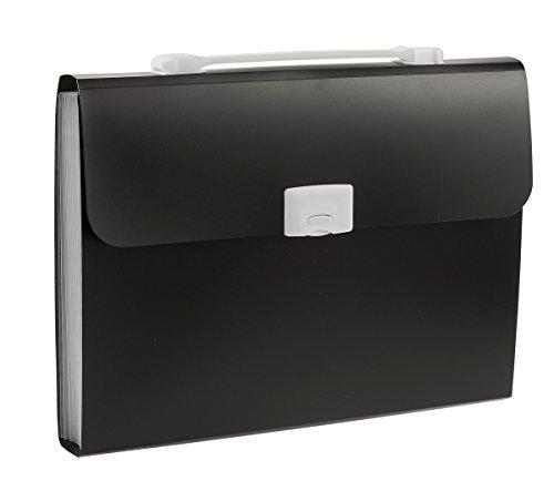 Fächermappe Office Datei Dokument Veranstalter, der Fall für Geschäftsreisen und Archivierung Arbeit, Schwarz-(33x 24,1x 3,8cm) - 33 Formel
