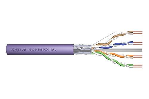 DIGITUS Verlege-Kabel Cat-6 F-UTP - 100-m Simplex im Karton - AWG 23/1 - LAN Netzwerk-Kabel - 250-MHz - Eca - LSZH-1 (Meter 6-ethernet-kabel 100 Cat)