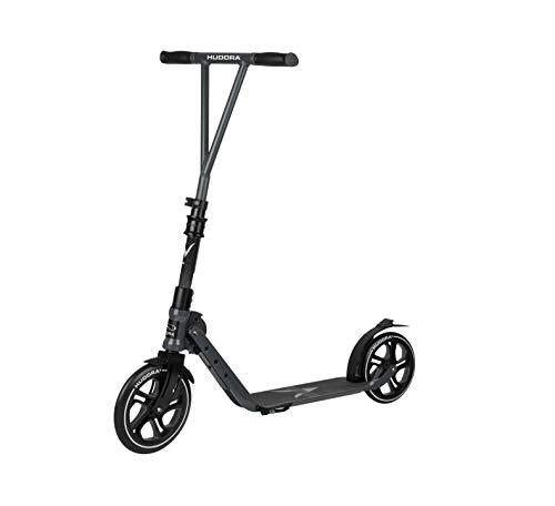 Hudora Bigwheel Generation V 230 - Monopattino per Ragazzi e Adulti, Ruote Grandi, 14117, Anthrazit, 230