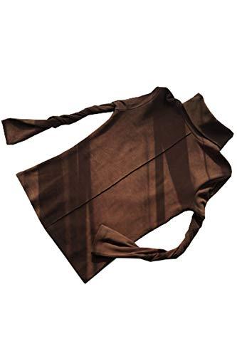 Damen Langarmshirt mit Rippbündchen Bisic Top Bulse dunkel Braun M -
