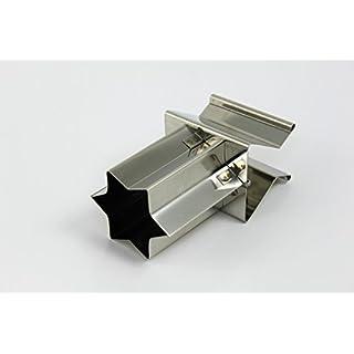 Zimtsternausstecher, Zimtstern Metall 5cm, Klipp-Klapp, Weihnachtsausstecher