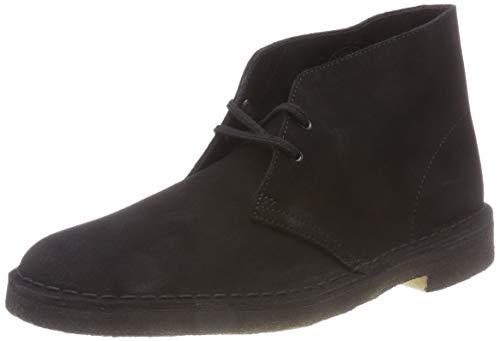 Clarks Originals Boot, Stivali Desert Boots Uomo, Nero (Black Suede-), 43 EU