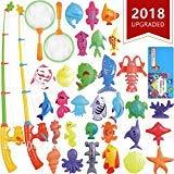 CozyBomB CozyBomB Angeln Spielzeug, Badespielzeug, Magnetisches Angeln Spielzeug vov wasserdichtes schwebendes Spielzeug in der Badewanne Lernspielset zum Angelnlernen - Lehren und Lernen Aller