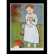 Pablo Picasso Kind mit Taube Poster Kunstdruck Bild Offsetdruck 60x80 cm