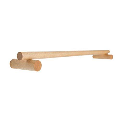 LXLX Kreative Handtuchhalter (60cm) Massivholz Handtuchhalter einzigen Pol Wand Badezimmer Handtuchhalter Badezimmer Zubehör (Farbe : American Black Walnut) -