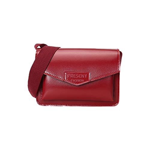 REALIKE Damen Umhängetasche Kuriertasche Klassische Frauen Einfarbig Kleines Paket Handtasche Schultertasche Einfach Business klein weiblichen Beutel Henkeltasche Studententasche