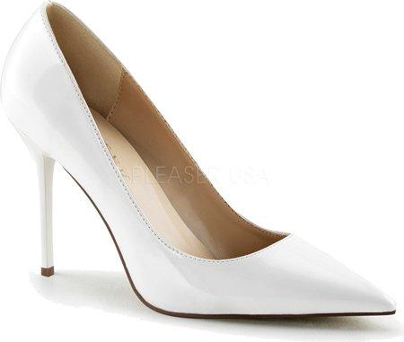 Pleaser  CLASSIQUE-20, Chaussures à talons - Avant du pieds couvert femmes Navy Blue Pat