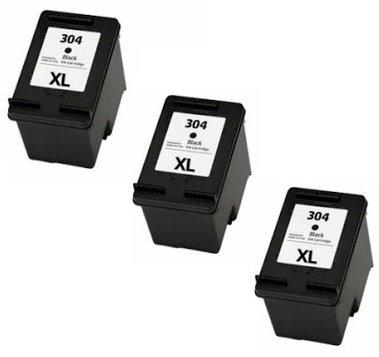 Printing pleasure 3 xl nero cartucce d'inchiostro compatibili per hp deskjet 2620 2630 2632 2633 2634 3700 3720 3730 3732 3733 3735 envy 5020 5030 5032   sostituzione per hp 304xl (n9k08ae)