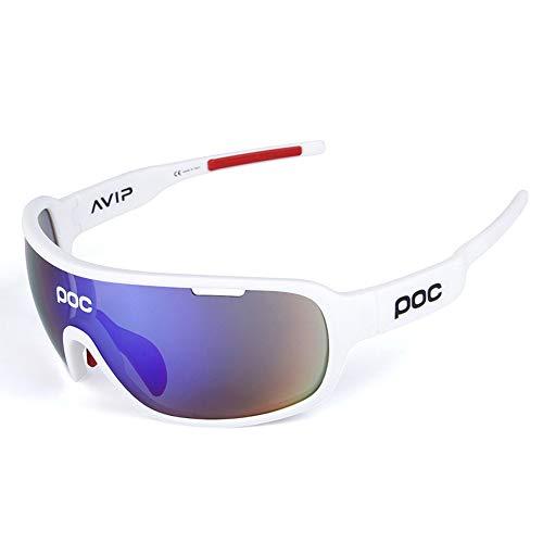 OPOLLY Stylische Outdoor-Radtour in polarisiertem Glas-/TR90-Material, resistent gegen Schlagsport Goggles/Enthält fünf Objektive,G