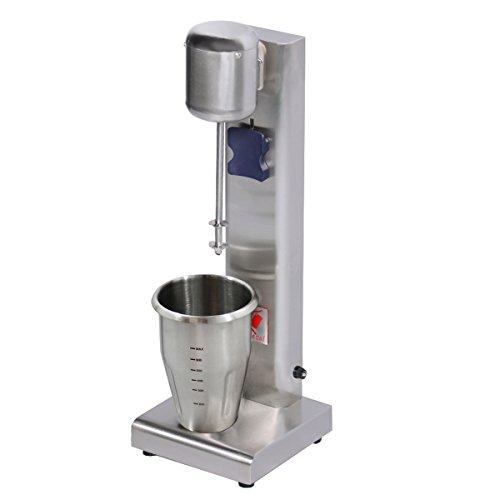 Beeketal 'BMS-1' Profi Milchshaker Mixer mit 1 x 750 ml XL Becher, 2 Stufen (10.000 oder 15.000 U/Min), Gastro Standmixer ideal für cremige Milkshakes, Eiweißshakes, Cocktails, Frappes oder Smoothies
