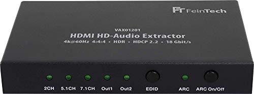 FeinTech VAX01201 HDMI Audio Extracteur Splitter HDMI 7.1 Arc Dolby Atmos 4K 60Hz HDR