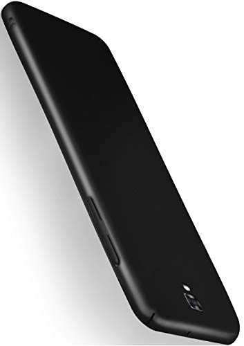 moex® Backcover [Ultra-Slim Design] passend für LG X Screen | Stabile Hartschale mit optimalem Stoß- & Kratzschutz - Matt Metallic Schwarz