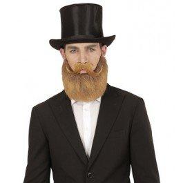 BLONDE BEARD AND MOUSTACHE FOR FANCY DRESS -