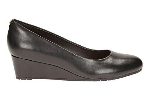 Clarks Damen Vendra Bloom Geschlossene Sandalen mit Keilabsatz Schwarz
