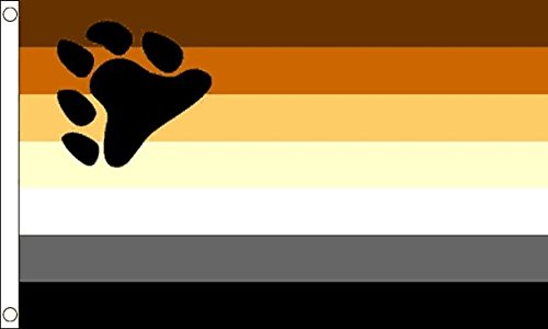 The Flag Wholesaler b008820Gay Pride Bear Flagge, Mehrfarbig, 24x 1x 23cm -
