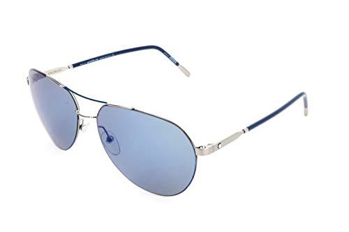 Montblanc Unisex-Erwachsene Mont Blanc Sonnenbrille, Black, 60