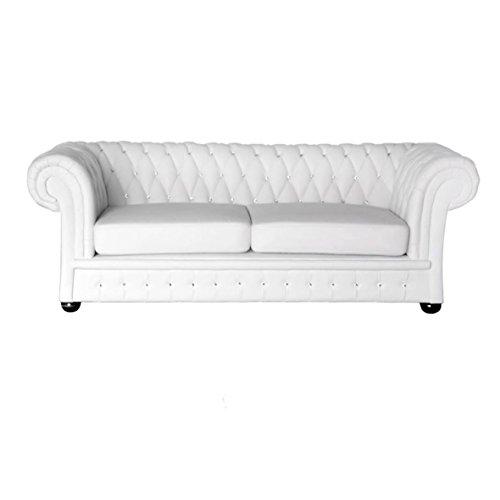 Classic Chesterfield Sofa 3 Sitzer Kristall