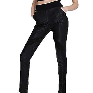 HHXWU Hosen, Spitzennähte, Lederhosen, Damen, Selbstkultivierung, groß
