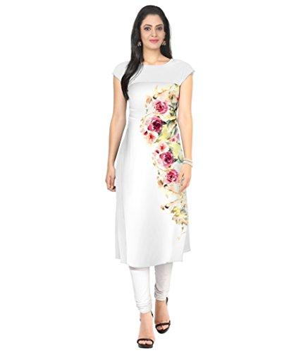 Velentino Trend Women Multicolor Floral Printed Crepe Kurtis VAT106 XXL