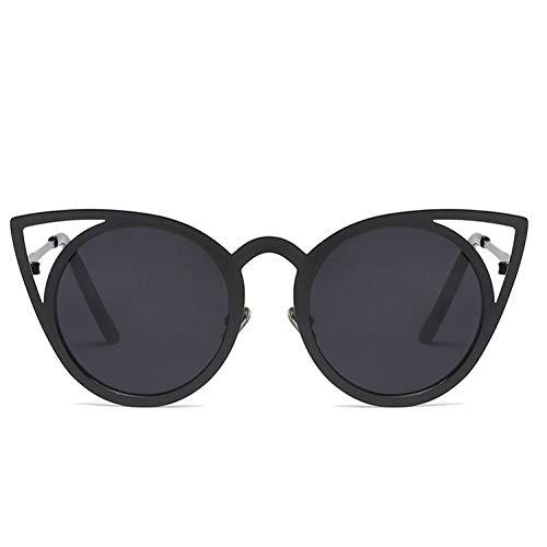 NECCT Hochwertige Mode Frauen Sonnenbrille Cat Eye Spiegel Gläser Metallrahmen Cat Eye Sonnenbrille,C4