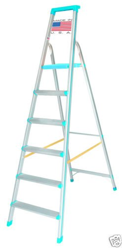 Euro Pro Household Aluminium Step ladder 6 Steps - Made in USA - folding - Tool Tray - ABS Platform - Ultra Light Weight  available at amazon for Rs.5280