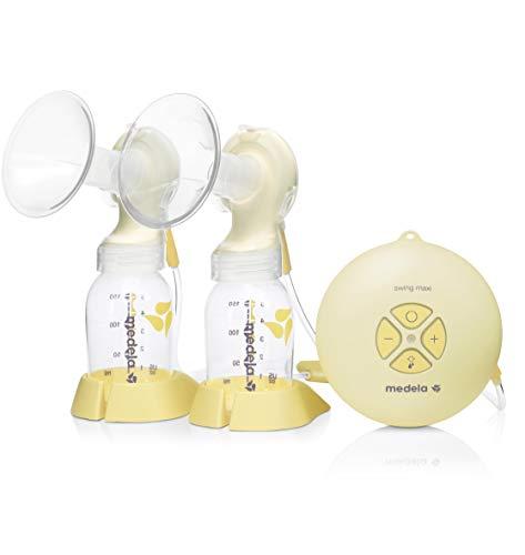 Sacaleches eléctrico doble Swing Maxi Medela, extractor de leche automático con tetina Calma