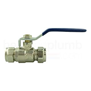 Advantay - Lever Ball Valve 28mm Compression Blue handle (FOR COLD WATER ONLY)
