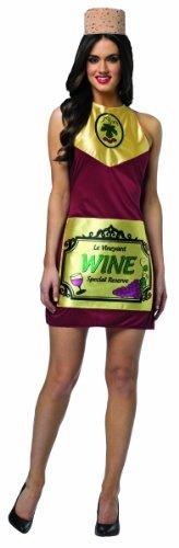 Wine Bottle Costume Premium Quality Booze Novelty Fancy Dress Lager Adults (Women: One Size) by Rasta Imposta (Sport Fancy Dress Kostüm)