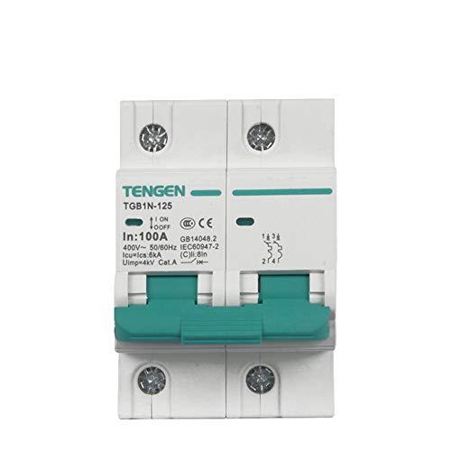 OIASD Interruptor de Aire Interruptor Miniatura Interruptor de Aire 2P C100A 6kA...