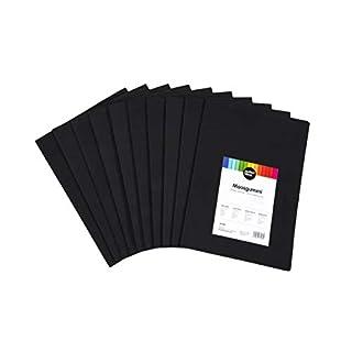 perfect ideaz 30 Blatt DIN-A4 Moos-Gummi schwarz, Schaumstoff-Platten in schwarzer Farbe, 2 mm Dicke, schwarzes Schaum-Gummi, Foam-Set zum Basteln, DIY-Bedarf, Moosgummi-Matte für Kinder