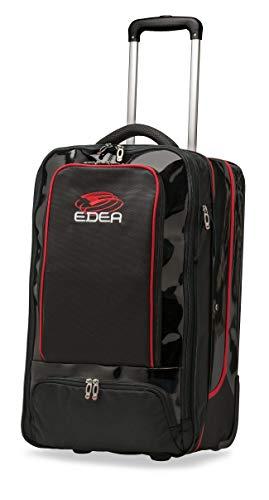 Edea Designer-Einkaufstasche, Schwarz/Rot