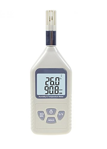 YH-THINKING Haustier Terraristik Terrarien Zubehör Thermometer Luftfeuchtigkeit Temperatur Meter, Handheld Digital Hygrothermograph