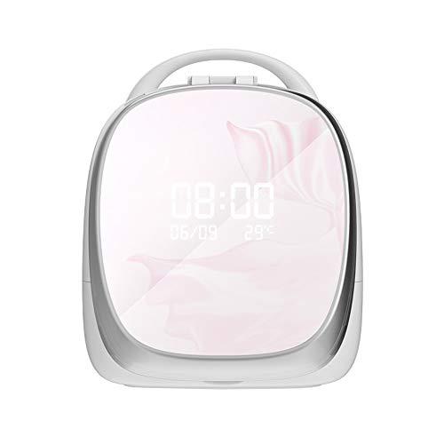 SXSHYUCO Make-up Organizer, Kosmetik Aufbewahrung, Einstellbares LED-licht, Wiederaufladbar, 1000 Mah Lithium-Batterie, Für Kommode, Schlafzimmer, Badezimmer, Pink -