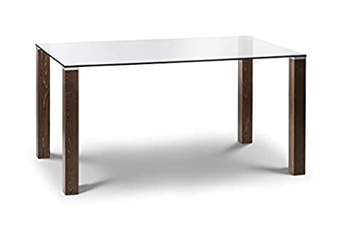 Julian Bowen Cayman and Glass Dining Table,