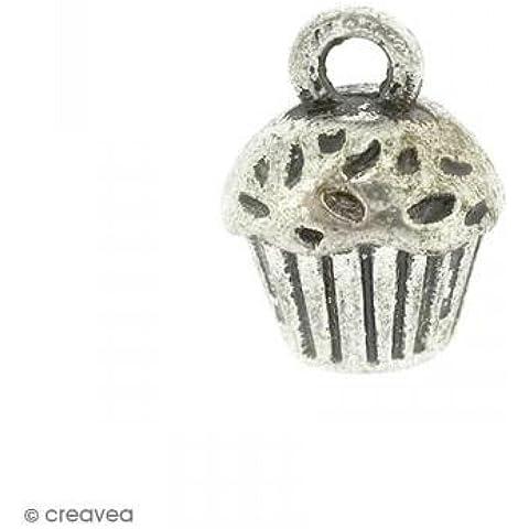 Charm Metallo Cupcake–14X 10mm