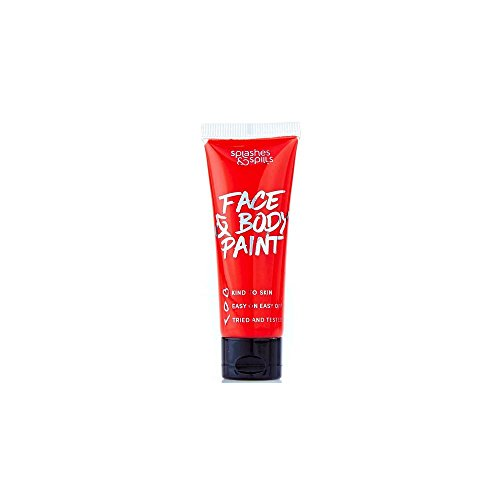 itzern Halloween Make Up Fancy Kleid Face & Body Paint–Rot 30ml (Scary Gesicht Malen)