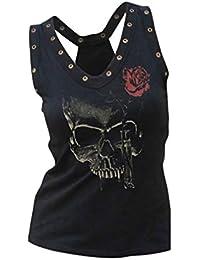 WEIMEITE Donna Hip Hop Canotta Fashion Canotte Donna Taglie Forti T-Shirt con  Scollo a 29e24bd2abfb