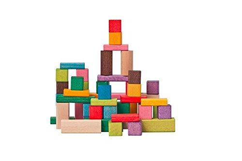 Woodyland Bloques de madera para niños de 2,5 cm (50 unidades)