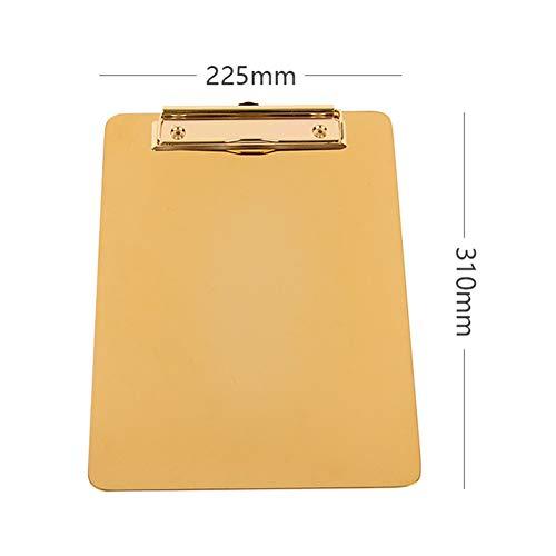 Ocamo Ordner Bürobedarf Klemmbretter A4 Ordner Holz Zwischenablage, Schreibtafel Bürobedarf Zwischenablage Schreibwaren Klemmbretter Gold (Groß) 225 × 310 m (Zwischenablage Mit Gold)