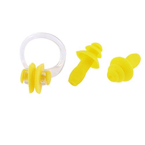 weiche-silikon-beschutzer-schwimmen-nasenklammer-ohrenstopsel-gelb-anlage