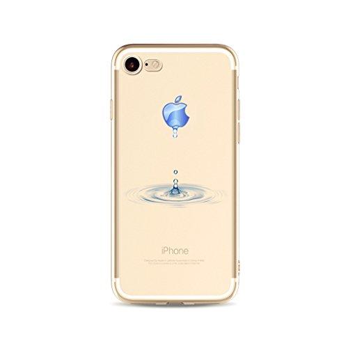 Flexible Gewebe-hart-streifen (iPhone 6S Plus Hülle,iPhone 6 Plus Case,iPhone 6 Plus/6S Plus (5.5 Zoll) Silikon Gel Schutzhülle, MUTOUREN Transparent Durchsichtig TPU Silikon Bumper Case Soft Gel Crystal Cover Hülle Ultra Slim Dünn Flexible Protective Schutzhülle Handy Tasche Etui Cover für Apple iPhone 6 Plus/6S Plus (5.5 Zoll), Wasser Tropfen)