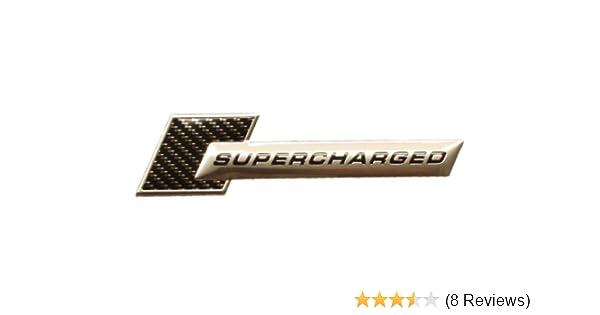 3d metallo cromato Supercharged Carbon Turbo Tuning Sticker emblema logo TS 102