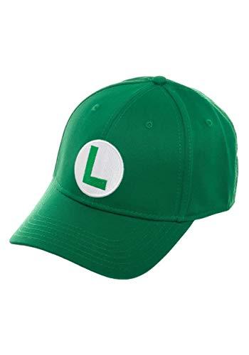 Bioworld - Super Mario - Luigi Flex Fit Baseball Cap (OSFM) Osfm Flex Cap