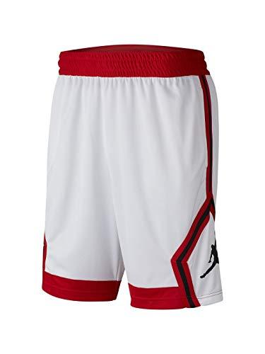 Jordan Herren Diamond Kurze Hose, weiß/rot/schwarz (White/Gym red/Black), S (Jordans Schwarz Und Rot)